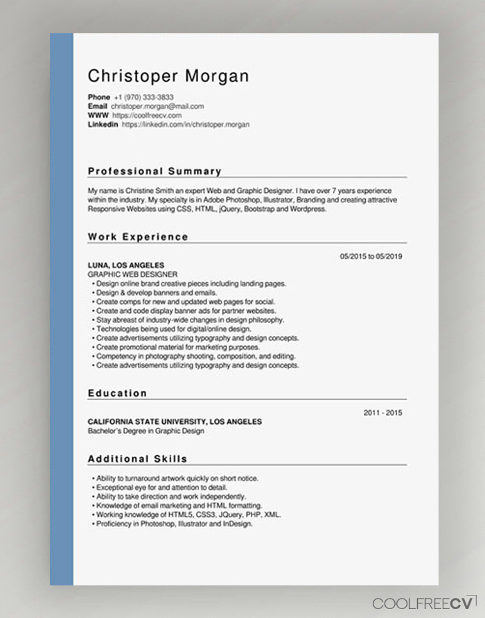 Resume 2019 new template