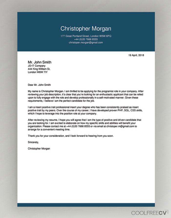 cover letter builder online