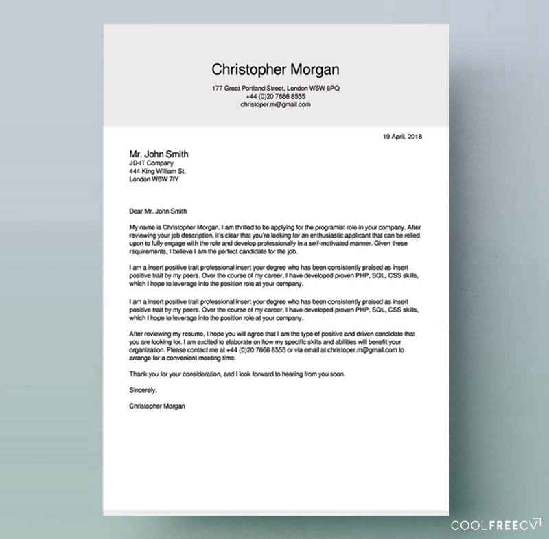 Cover Letter Meaning: How To Write A Cover Letter For A Job & Examples