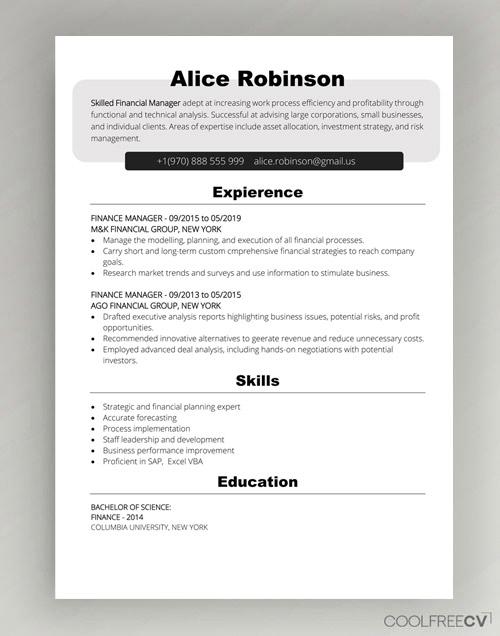 word doc resume