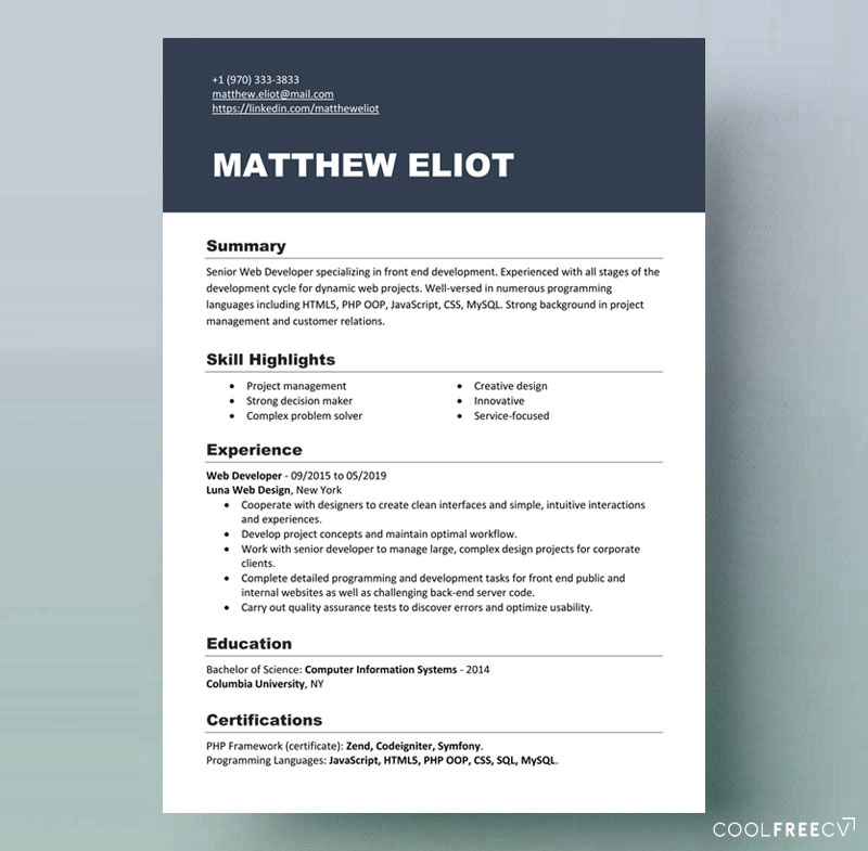 free resume templates IT Microsoft docx